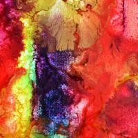 Filigrane Spuren - Original Encausticmalerei auf Leinwand Bild 2