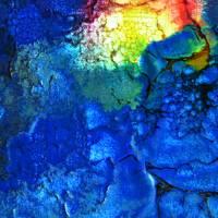 Filigrane Spuren - Original Encausticmalerei auf Leinwand Bild 3