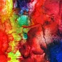 Filigrane Spuren - Original Encausticmalerei auf Leinwand Bild 4
