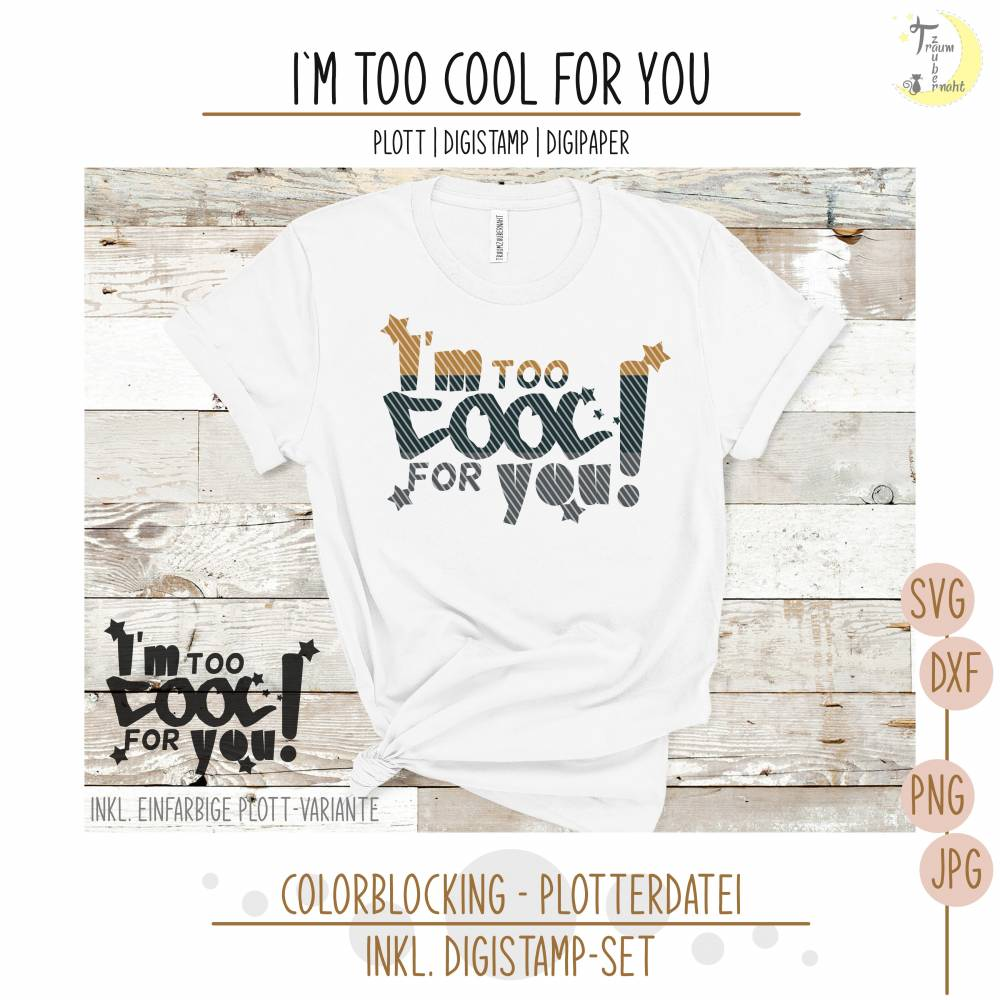Too Cool For You Digi & Plott im Set Bild 1