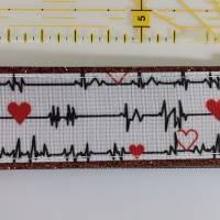 """Kupfer Kunstleder """"EKG mit Herz"""" Schlüsselanhänger, Taschenbaumler Bild 1"""