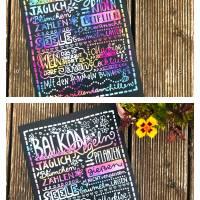 """Tafel """"Gartenregeln"""" oder """"Balkonregeln"""" bunt Bild 1"""