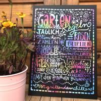 """Tafel """"Gartenregeln"""" oder """"Balkonregeln"""" bunt Bild 4"""