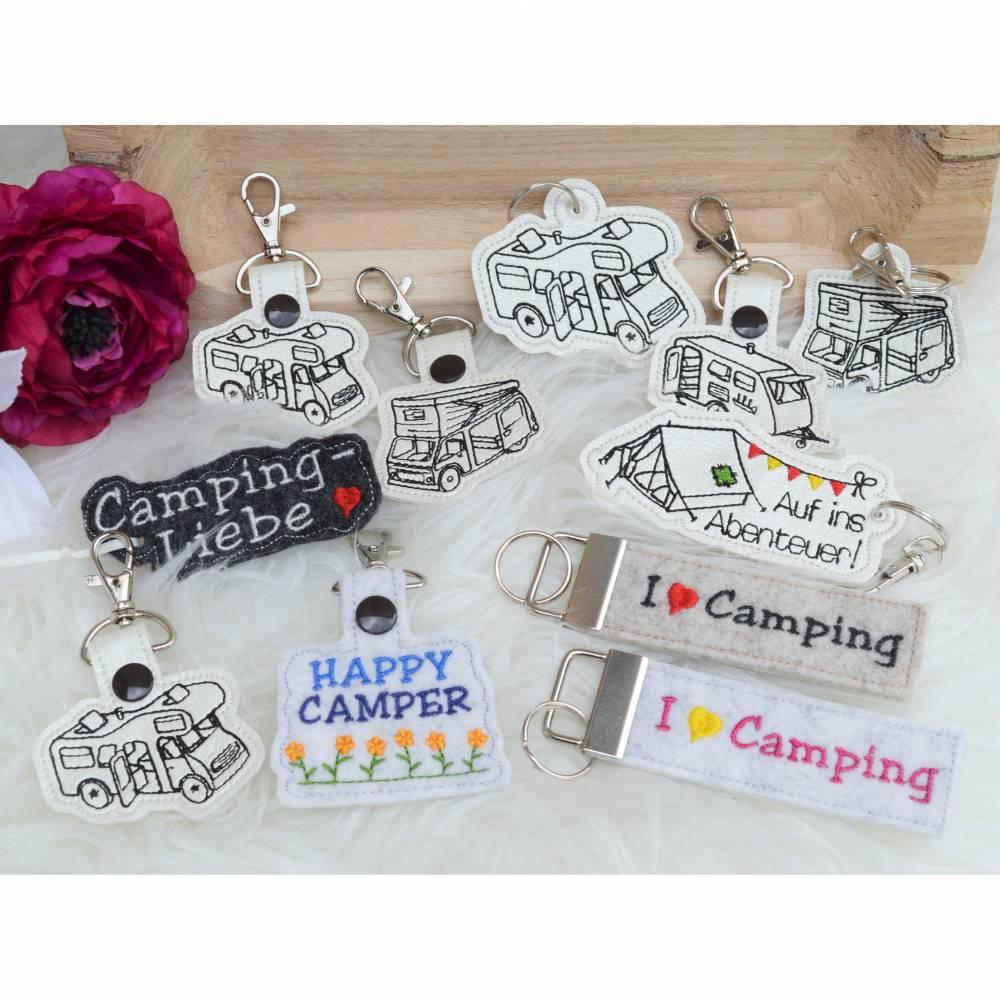 Stickdatei Camper Camping Anhänger Schlüsselanhänger ITH Wohnmobile Bild 1