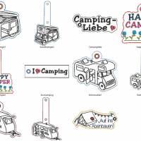 Stickdatei Camper Camping Anhänger Schlüsselanhänger ITH Wohnmobile Bild 2