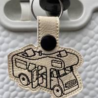 Stickdatei Camper Camping Anhänger Schlüsselanhänger ITH Wohnmobile Bild 6