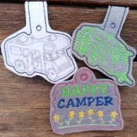 Stickdatei Camper Camping Anhänger Schlüsselanhänger ITH Wohnmobile Bild 8