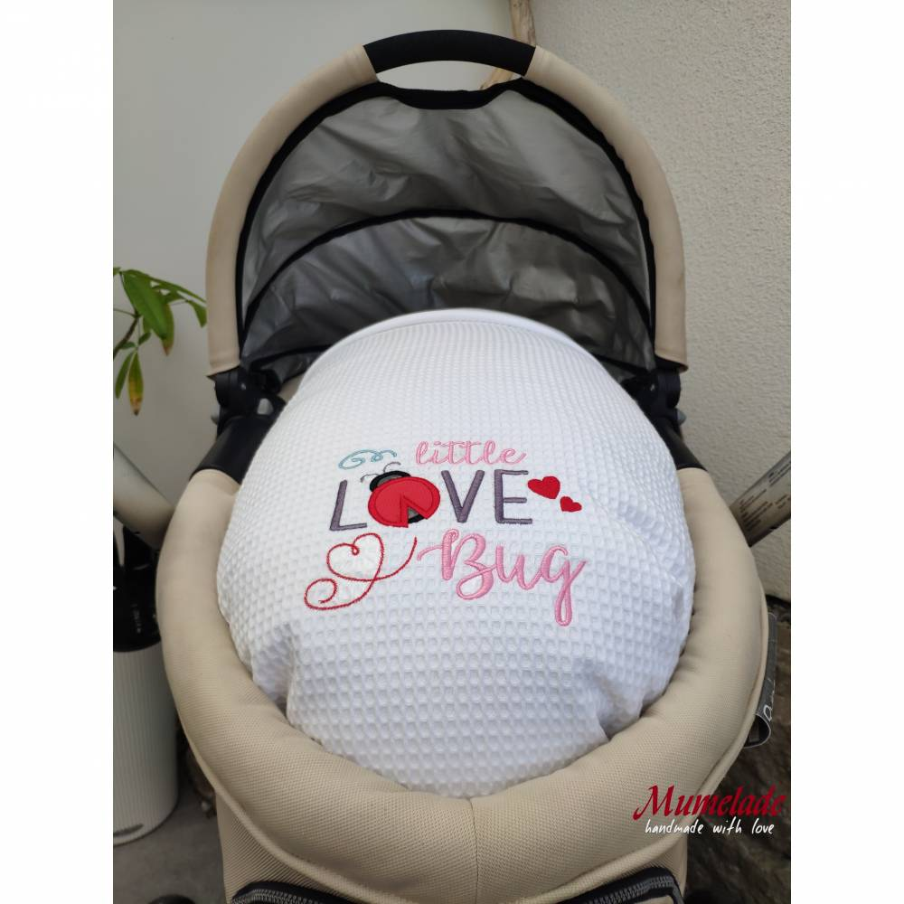 Babydecke - Wiegendecke Weiss Bild 1