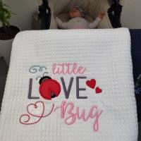 Babydecke - Wiegendecke Weiss Bild 3