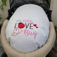 Babydecke - Wiegendecke Weiss Bild 5