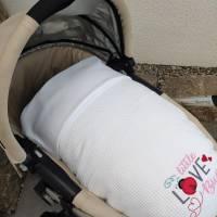 Babydecke - Wiegendecke Weiss Bild 6