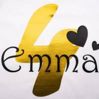 Kinder T-Shirt personalisiert mit Namen und Nummer Babybody Bild 2