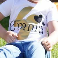 Kinder T-Shirt personalisiert mit Namen und Nummer Babybody Bild 3