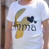 Kinder T-Shirt personalisiert mit Namen und Nummer Babybody Bild 4