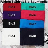 Kinder T-Shirt personalisiert mit Namen und Nummer Babybody Bild 8