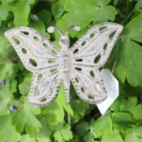 Metall Schmetterling Beetstecker Shabby Gartenstecker rustikal Vintage Art Bild 1