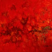 Unendliches Universum - Original Encausticmalerei auf Leinwand Bild 1
