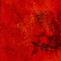 Unendliches Universum - Original Encausticmalerei auf Leinwand Bild 2