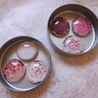 """6 Cabochon Magnete groß Rosen floral """"Roses"""" Geschenkidee Frauen Garten Geburtstag Weihnachten Bild 1"""