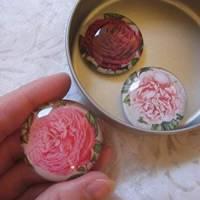 """6 Cabochon Magnete groß Rosen floral """"Roses"""" Geschenkidee Frauen Garten Geburtstag Weihnachten Bild 5"""