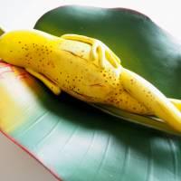 Bananenfrosch, Froschskulptur, Froschkönig, Froschplastik, Frosch Figur, modellierter Frosch, Toy Art, figurative Art Bild 5