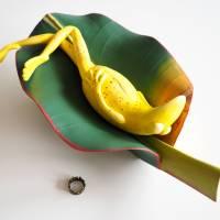 Bananenfrosch, Froschskulptur, Froschkönig, Froschplastik, Frosch Figur, modellierter Frosch, Toy Art, figurative Art Bild 6
