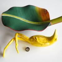 Bananenfrosch, Froschskulptur, Froschkönig, Froschplastik, Frosch Figur, modellierter Frosch, Toy Art, figurative Art Bild 8