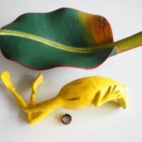 Bananenfrosch, Froschskulptur, Froschkönig, Froschplastik, Frosch Figur, modellierter Frosch, Toy Art, figurative Art Bild 9