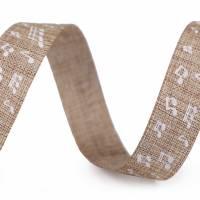 Textilband 5m Noten Beige / Blau 15mm Bild 3
