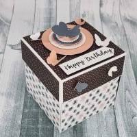 Geldgeschenk zum Geburtstag Explosionsbox  Bild 1