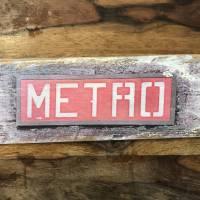 Paris Metro Holzbild - Weinkisten Upcycling, 9x23 cm, Wanddeko, Shabby Style, retro, Dekoration, Wandbild Bild 3