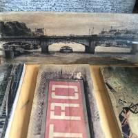 Paris Metro Holzbild - Weinkisten Upcycling, 9x23 cm, Wanddeko, Shabby Style, retro, Dekoration, Wandbild Bild 5