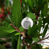 """Anhänger """"Blume des Lebens"""", 999 Silber, rund, mattiert Bild 3"""