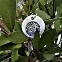 """Anhänger """"Blume des Lebens"""", 999 Silber, rund, mattiert Bild 4"""