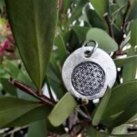 """Anhänger """"Blume des Lebens"""", 999 Silber, rund, mattiert Bild 5"""