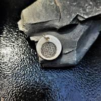 """Anhänger """"Blume des Lebens"""", 999 Silber, rund, mattiert Bild 7"""