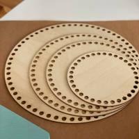 Runde Häkelböden in verschiedenen Größen (15 / 20 / 24 / 30 cm) Bild 1