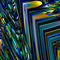 """Lesezeichen - """"Leuchtend Blau"""" – Design  Ulrike Kröll Bild 1"""