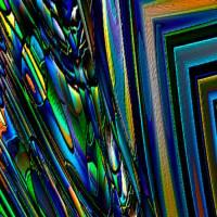 """Lesezeichen - """"Leuchtend Blau"""" – Design  Ulrike Kröll Bild 2"""