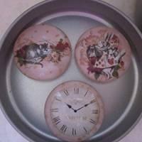 """6 Cabochon Magnete groß Alice im Wunderland Vintage Stil Rosen """"Alice"""" Geschenkidee  Bild 7"""