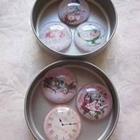"""6 Cabochon Magnete groß Alice im Wunderland Vintage Stil Rosen """"Alice"""" Geschenkidee  Bild 8"""
