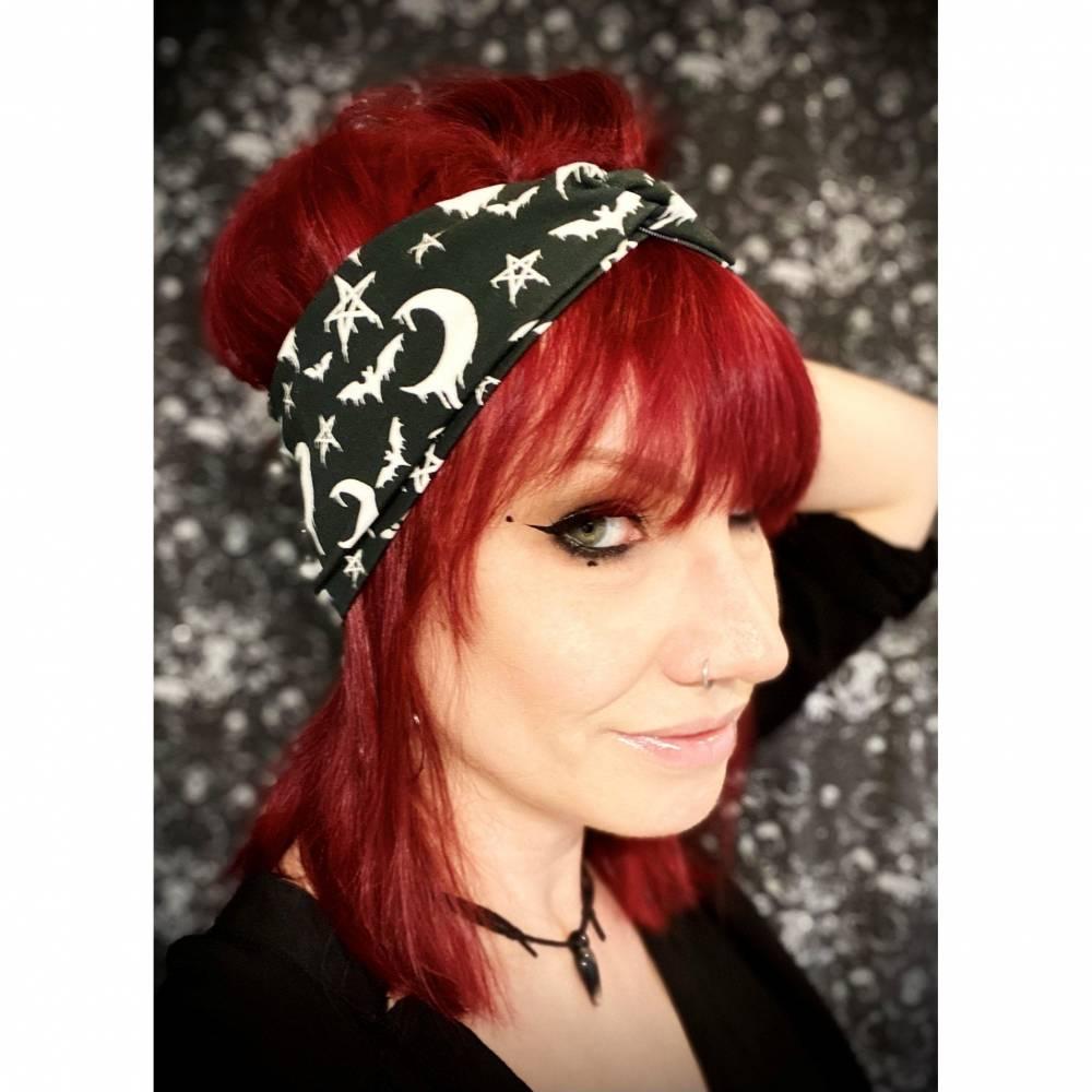 Bewitched , Bio Organic Baumwolle Stirnband, Bandeau, Haarband, sommerlich Bild 1