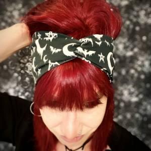 Bewitched , Bio Organic Baumwolle Stirnband, Bandeau, Haarband, sommerlich Bild 2
