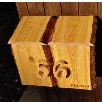 Briefkasten aus Holz Lärche handgemacht massiv rustikal Bild 2