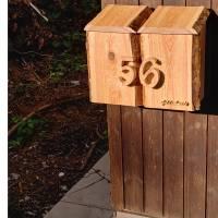 Briefkasten aus Holz Lärche handgemacht massiv rustikal Bild 4
