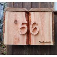 Briefkasten aus Holz Lärche handgemacht massiv rustikal Bild 5