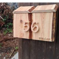 Briefkasten aus Holz Lärche handgemacht massiv rustikal Bild 6
