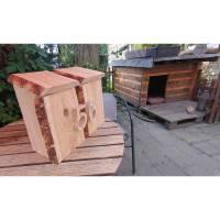 Briefkasten aus Holz Lärche handgemacht massiv rustikal Bild 7