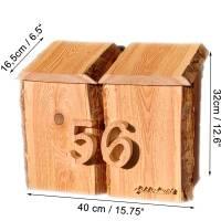 Briefkasten aus Holz Lärche handgemacht massiv rustikal Bild 9