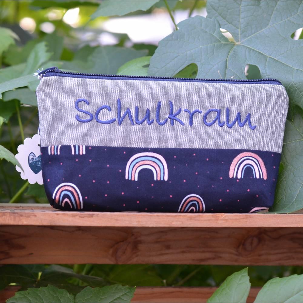 Schulkram  Schlampermäppchen  Stiftemappe Regenbogen Bild 1